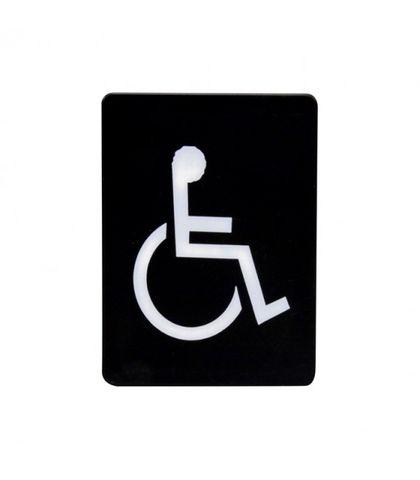 """""""Wheelchair symbol"""" White on black"""