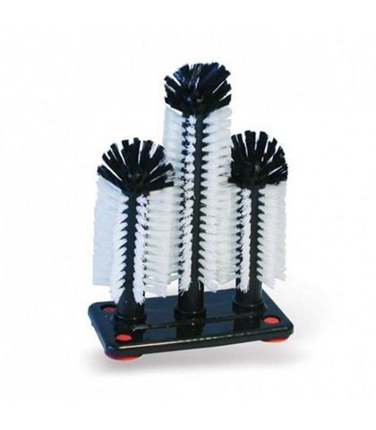 Triple Glass Brush -W/Tall Centre Brush