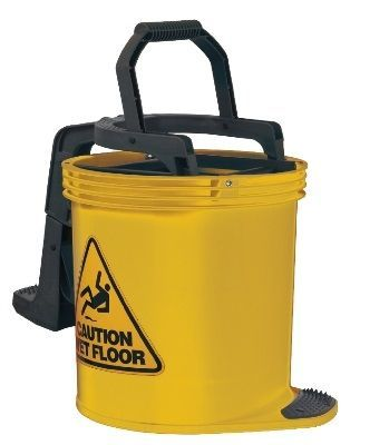 Oates DuraClean Roller Wringer Bucket-15L Yellow