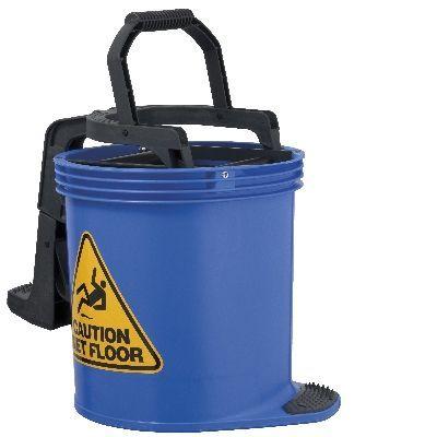Oates DuraClean Roller Wringer Bucket-15L Blue