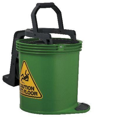 Oates DuraClean Roller Wringer Bucket-15L Green