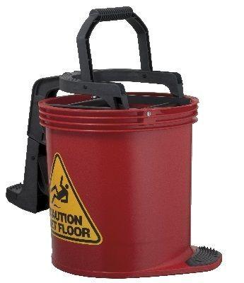 Oates DuraClean Roller Wringer Bucket-15L Red