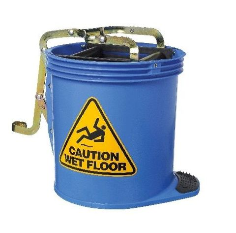 Oates Contractor Roller Wringer Buckets -15L Blue