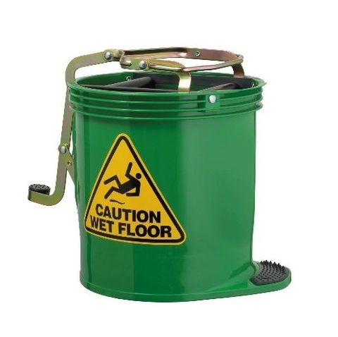 Oates Contractor Roller Wringer Buckets -15L Green