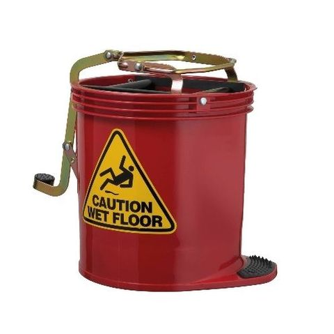 Oates Contractor Roller Wringer Buckets -15L Red