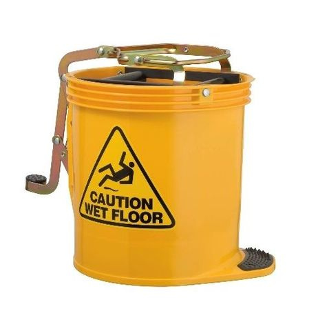 Oates Contractor Roller Wringer Buckets -15L Yellow