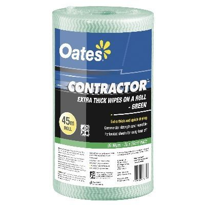 Oates Contractor Extra Thick Wipes on a Roll Green
