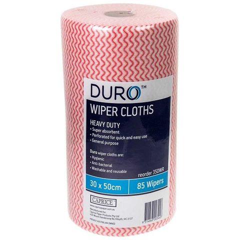 Duro Wiper Roll Heavy Duty Red 50cm x 30cm