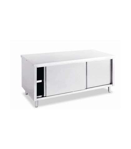 Stainless Steel Work Table with Under Cabinet 1800x800x900mm