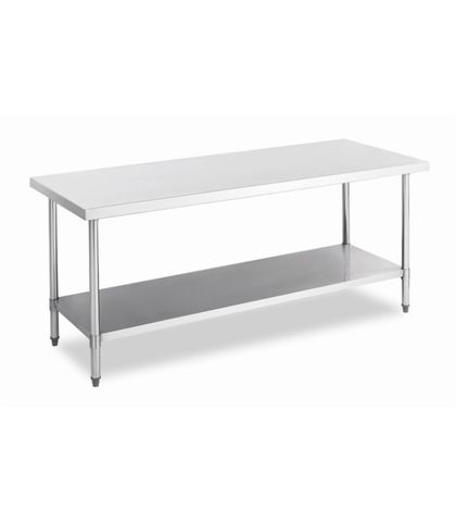 Stainless Steel Work Table Bench with Under Shelf 1200x700x900mm