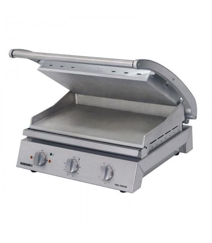 Roband GSA815RT - 8 Slice Grill Station W/ Ribbed Top Plate And Non-Stick Coating 2.99kw 13A
