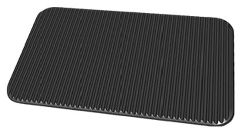 Unox Non-stick ribbed-flat aluminium plate for grilling 12mm