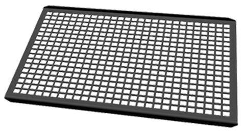 Unox Non-stick aluminium pan for grilling