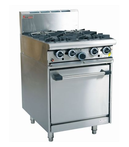 Trueheat - 4 Open Burners with Oven - Natural Gas (600mm Wide)