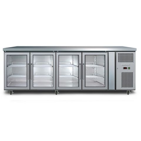 BROMIC Four Glass Door Under Bench Chiller 553L