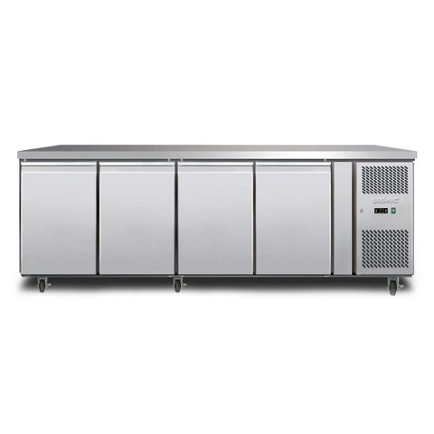BROMIC Underbench Storage Freezer 553L LED Four Solid Doors