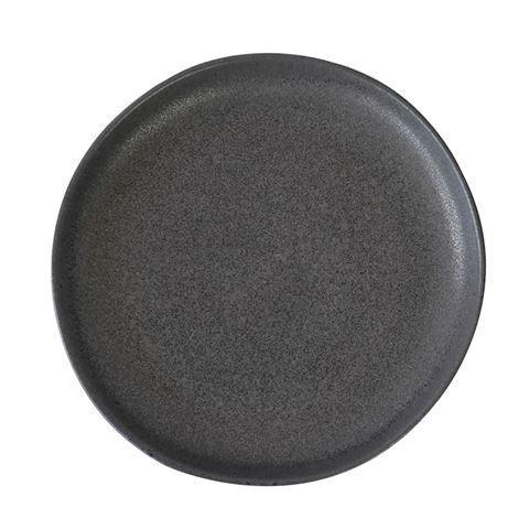 Pedra Medium Plate D21x2cm Black