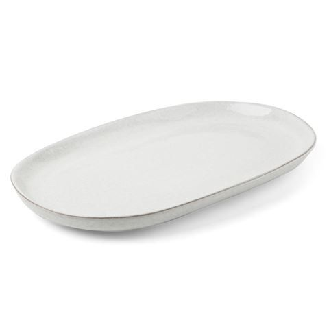 Pedra Oval Platter 36x23.5x2.5cm White