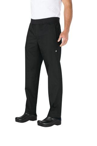 Lightweight Black Slim Fit Chef Pants