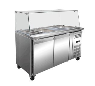 EXQUISITE Salad Bar Chiller 4x1/1 GN pans 1500w 750d 1320h