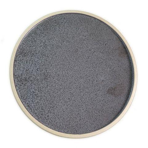 Round Plate 285mm SOHO Speckle Black