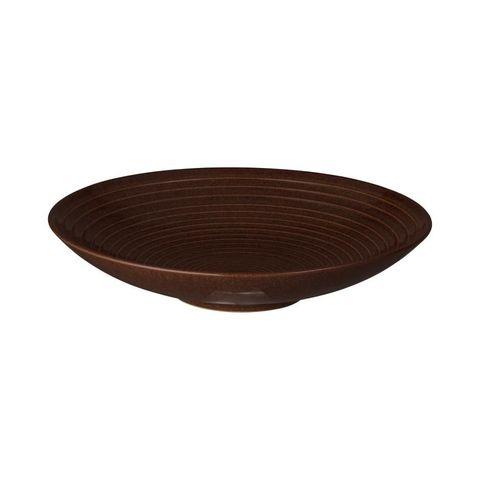 Studio Craft Medium Ridged Bowl 255mm DENBY Walnut