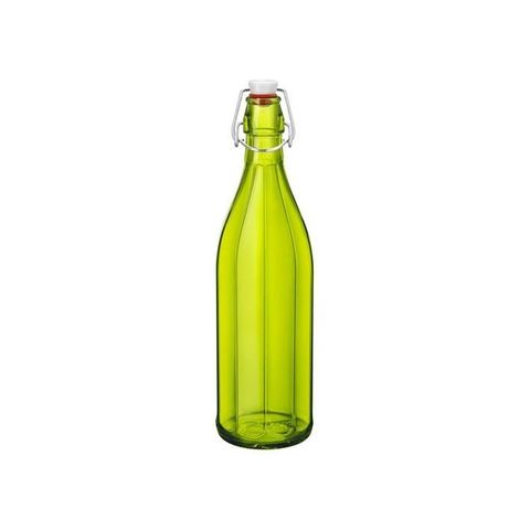 1.0lt Oxford Bottle With Top Bormioli Rocco - Green