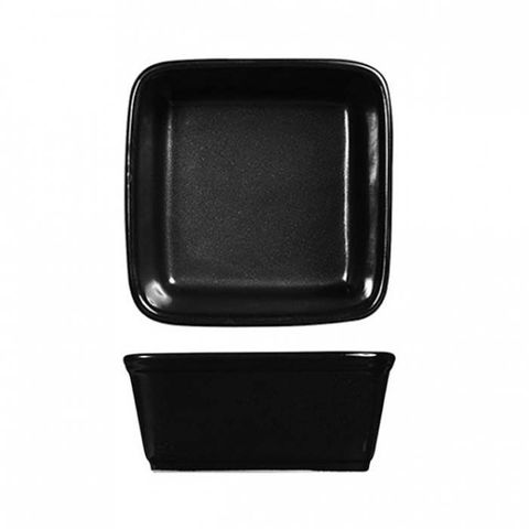 "Square Tapas Dish 180mm/1100ml""RUSTICS BLACK"" ART de CUISINE"