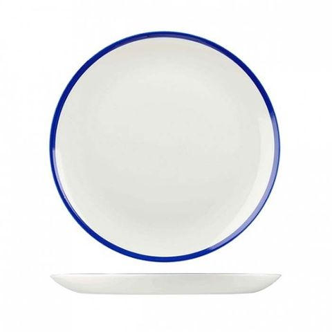 "Round Coupe Plate 165mm CHURCHILL ""Retro Blue"""