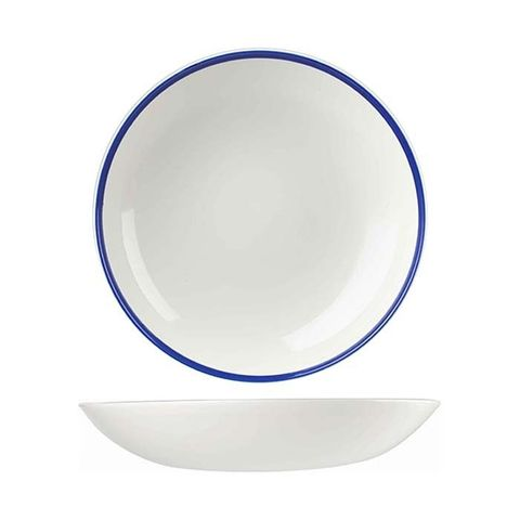 "Round Coupe Bowl 248mm/1136ml CHURCHILL""Retro Blue"""