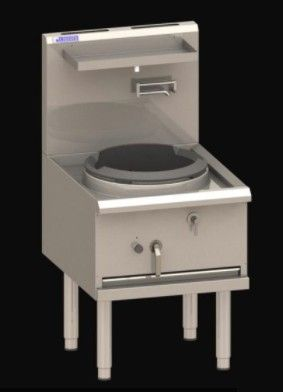 LUUS Asian Series WX 650 COMPACT WATERLESS WOKS 1 Hole Compact 420mm 90mj NAT/90mj LPG