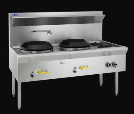 LUUS WL 1500MM WATERLESS WOKS 2 Hole 2 Open Burner 260mj NAT/286mj LPG