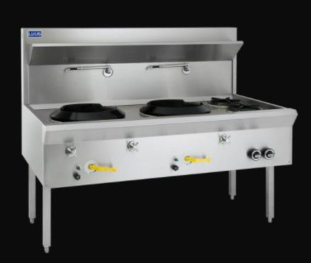 LUUS ASIAN RANGE WF 1500MM TRADITIONAL WOKS 2 Hole 2 Open Burner Traditional Wok 260mj NAT/286mj LPG