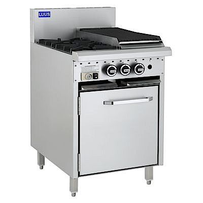 LUUS ESSENTIAL CRO 600MM 2 Burner 300mm Griddle & Oven 82mj NAT/82mj LPG