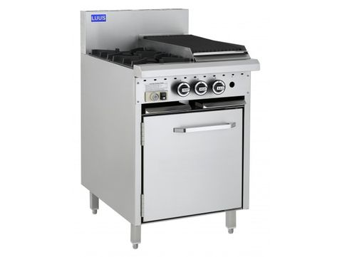 LUUS ESSENTIAL CRO 600MM 2 Burner 300mm Chargrill & Oven 85mj NAT/85mj LPG