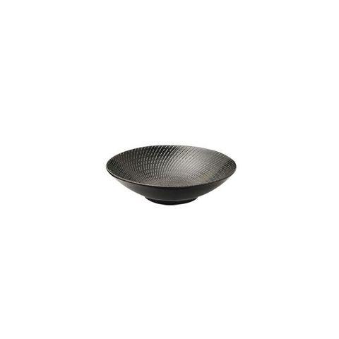 Round Bowl 145x41mm LUZERNE ZEN Black Swirl