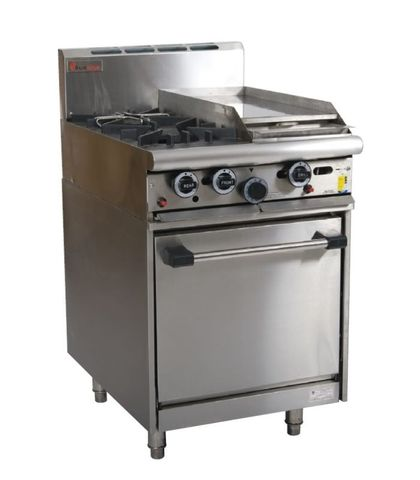 Trueheat - 2 Open Burners, 300mm Griddle And Oven - Natural Gas (600mm Wide)