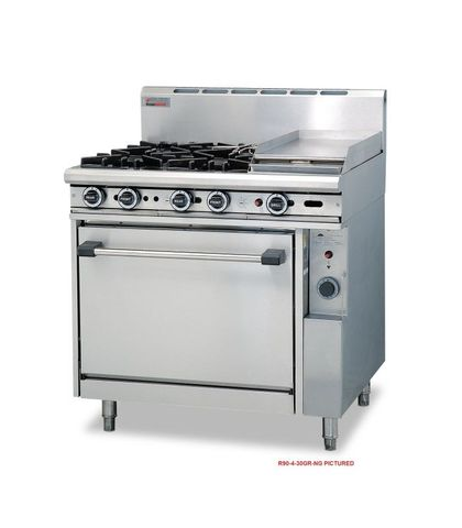 Trueheat - 2 Open Burners, 600mm Griddle And Oven - Natural Gas (900mm Wide)