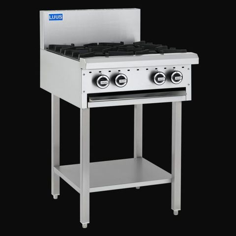 LUUS ESSENTIALS BCH 600MM 4 Burner Cooktop 72mj NAT/72mj LPG
