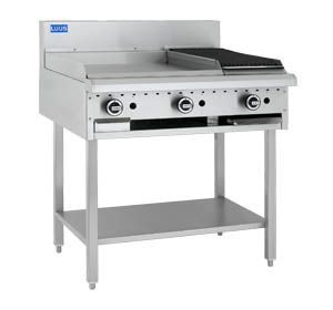 LUUS ESSENTIALS 600mm Griddle 300mm Chargrill 63mj NAT/63mj LPG