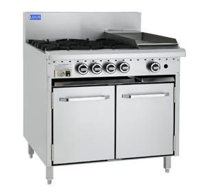 LUUS ESSENTIALS CRO 900MM 4 Burner 300mm Chargrill & Oven 140mj NAT/130mj LPG