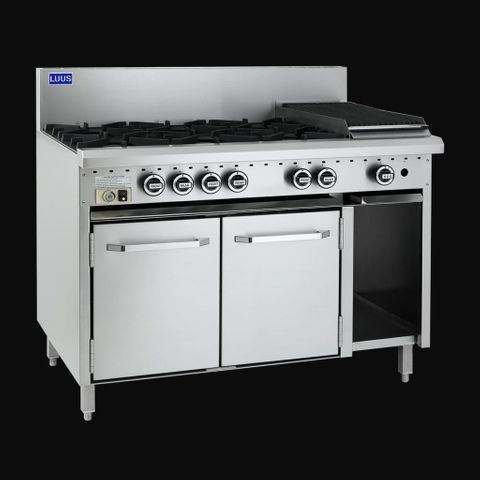 LUUS ESSENTIALS CRO 1200MM 6 Burner 300mm Griddle & Oven 173mj NAT/163mj LPG