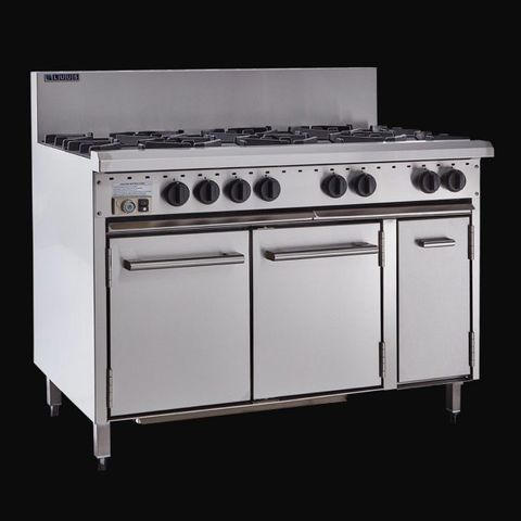 LUUS ESSENTIALS CRO 1200MM 8 Burner & Oven	189mj NAT/179mj LPG