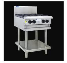 LUUS PROFESSIONAL CS 600MM 2 Burner 300mm Griddle Cooktop 74mj NAT/74mj LPG