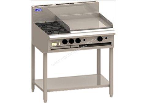 LUUS PROFESSIONAL CS 900MM 2 Burner 600mm Griddle Cooktop 92mj NAT/92mj LPG