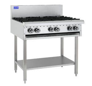 LUUS PROFESSIOANL CS 900MM 6 Burner Cooktop 168mj NAT/168mj LPG