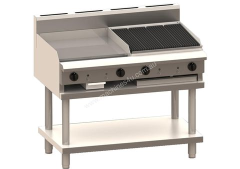 LUUS PROFESSIONAL 600mm Griddle 600mm Chargrill 102mj NAT/102mj LPG