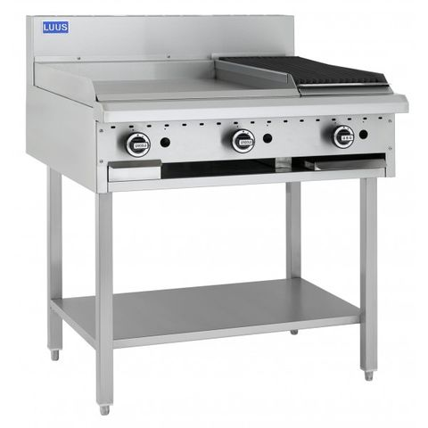 LUUS PROFESSIONAL 600mm Griddle 300mm Chargrill 69mj NAT/69mj LPG