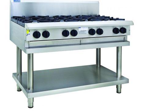 LUUS PROFESSIONAL CS 1200MM 8 Burner Cooktop 224mj NAT/224mj LPG