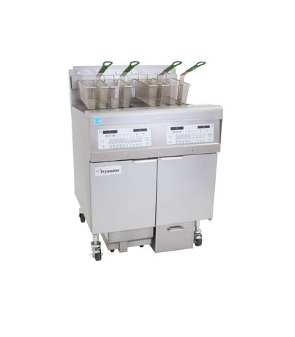 Frymaster Commercial Deep Fryer W/ In-Built Filter - Natural Gas - Filterquick 2 X 15L